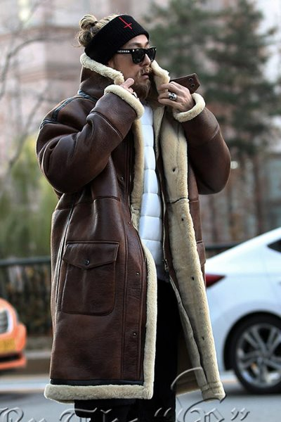 ByTheRSnap Front Shearling Overcoat