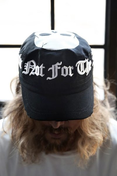 ByTheRBy TheR Slogan Embossing Skull Embroidery Military Cap