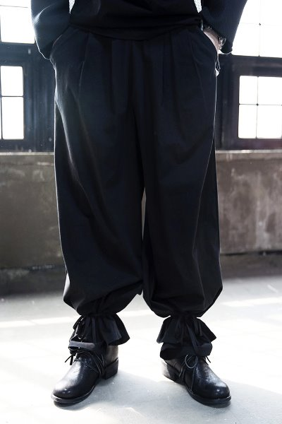 ByTheRByTheR Ankle Ribbon Wide Pants