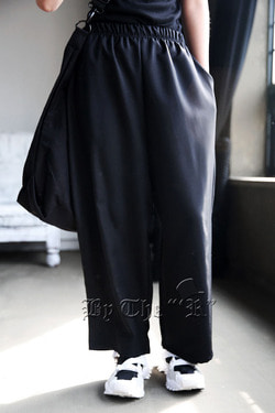 ByTheRByTheR Banding Black Wide Pants