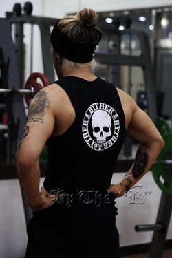 ByTheRByTheR Logo Print Slim Fit Tank Top