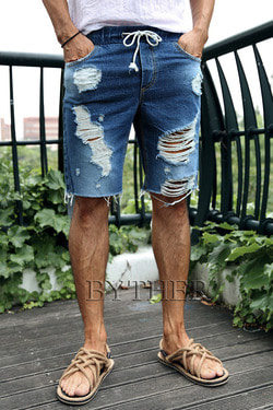 ByTheRVintage Damaged Denim Shorts