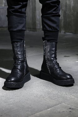 ByTheRZipped Leather Ankle Boots