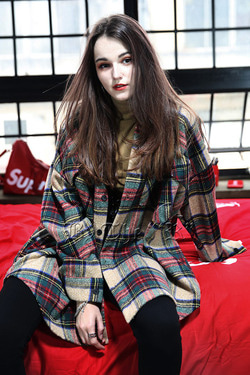ByTheRTartan Check Loose Shirts Jacket