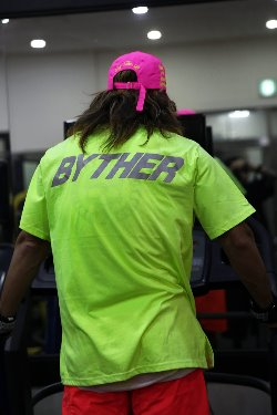ByTheRByTheR Reflective Neon Lettering Scotch T-shirt