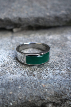 ByTheRGreen Square Gemstone Round Ring