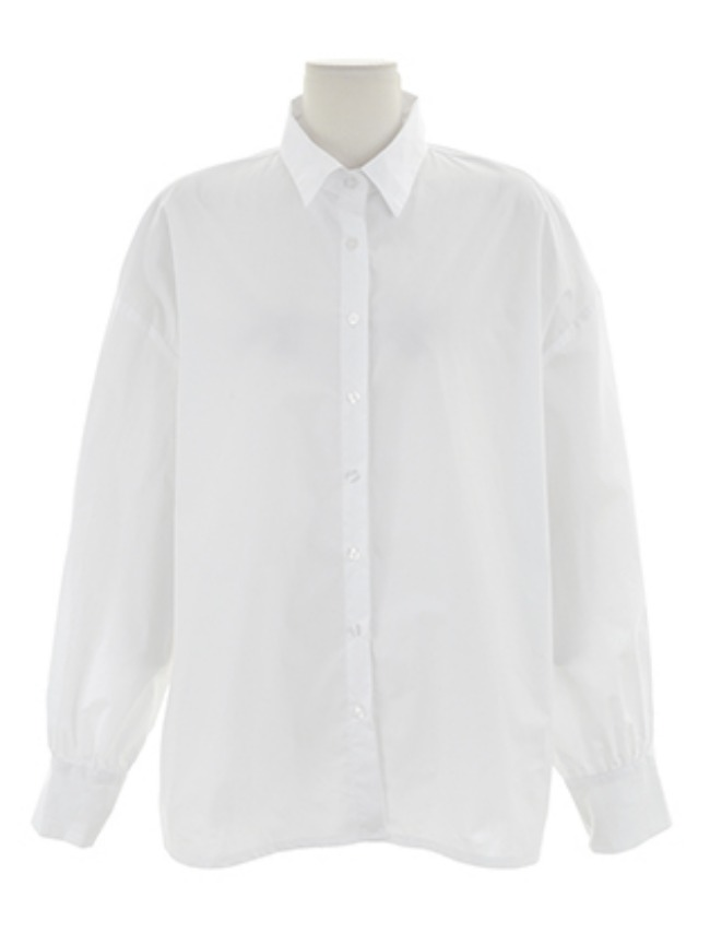 White Long Sleeve Button-Up Cotton Shirt