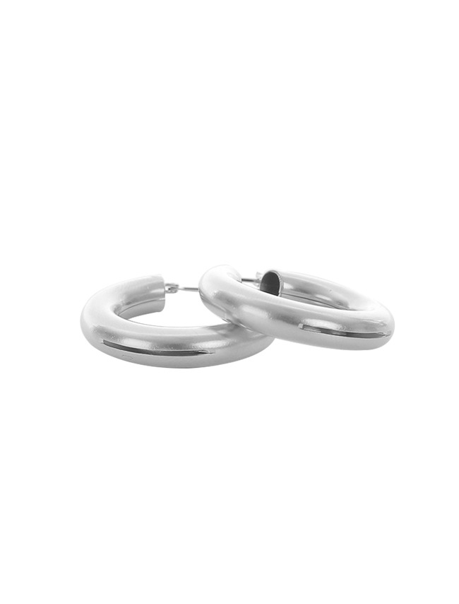 Silver-Toned Hoop Earrings