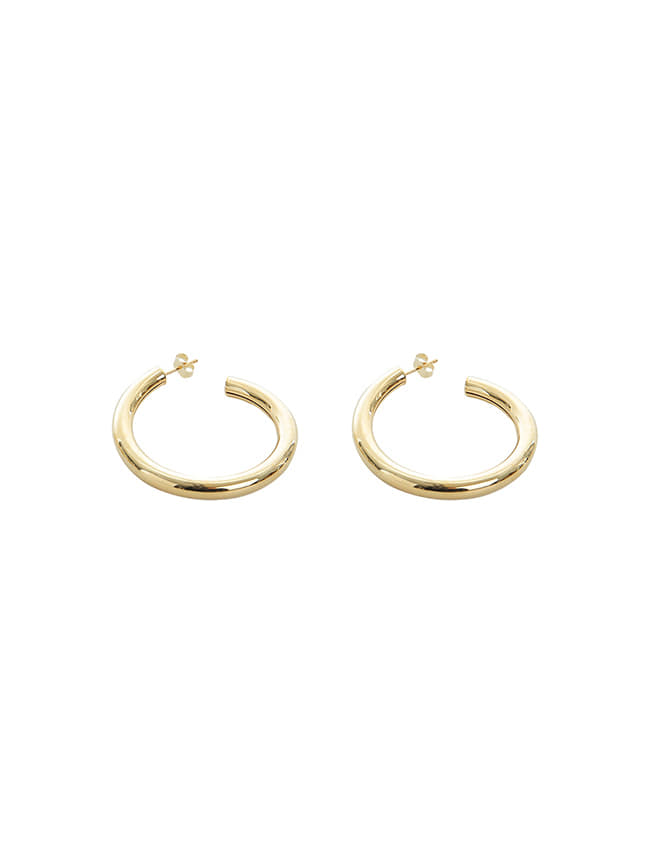 Gold-Tone Push-Back Hoop Earrings