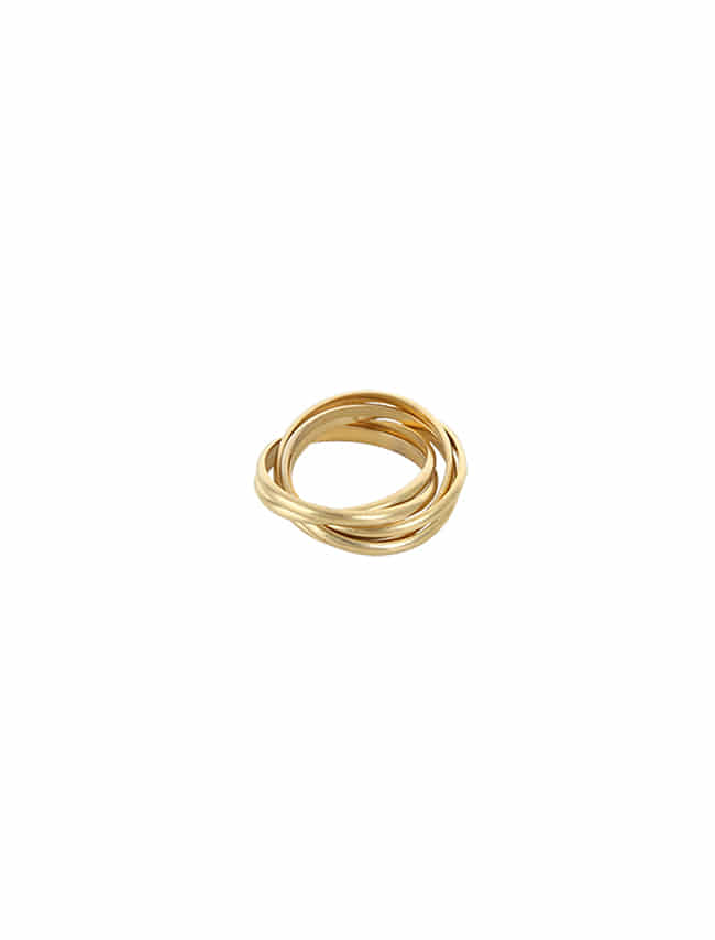 Gold-Tone Looped Stacked Ring