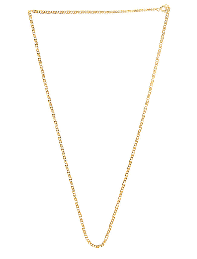 Gold-Tone Silver Chain Necklace