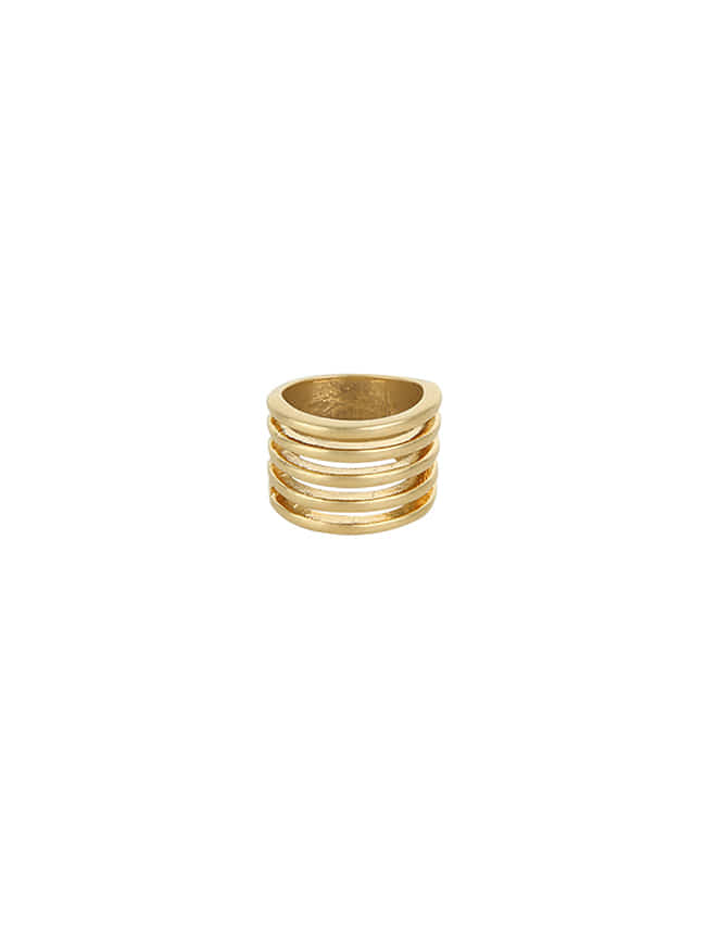 Gold-Tone Stacked Ring