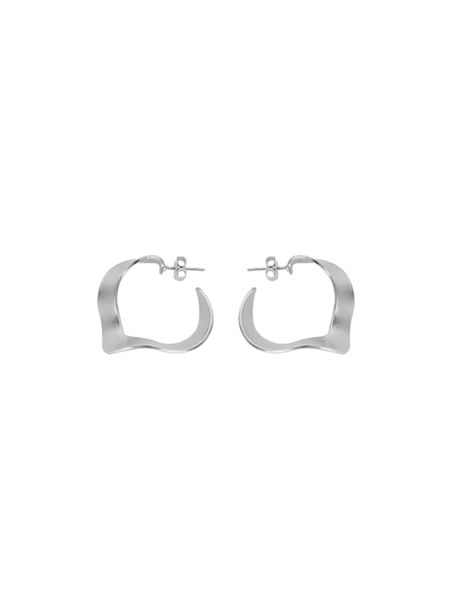 Silver-Tone Wave Earrings