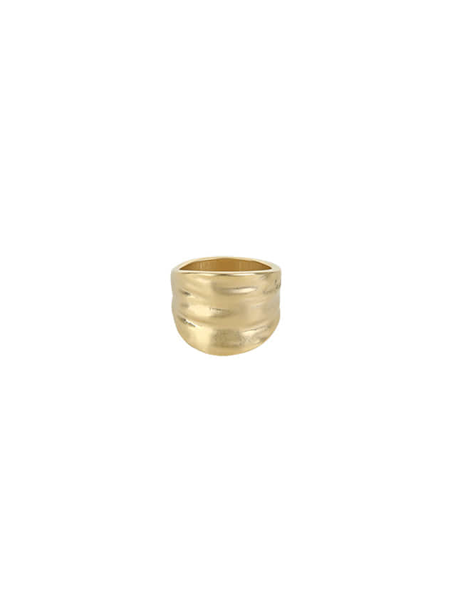Gold-Tone Wide Band Ring