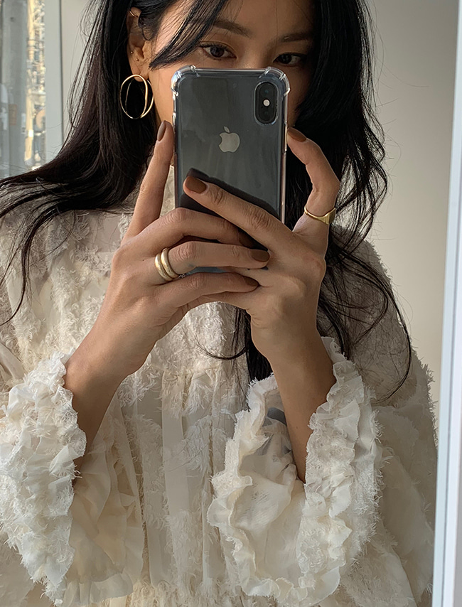 Ivory Lace Layered Twofer Blouse