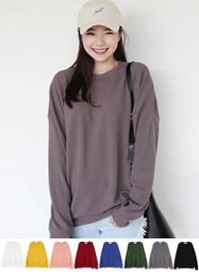 66GIRLSExtended Sleeve Solid Tone Pullover