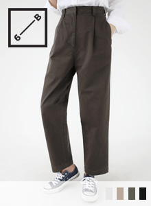 66GIRLSPleated Straight-Cut Pants