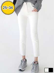 66GIRLSMid Rise Straight Cut Pants