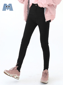 66GIRLSHigh Waist Raw Hem Skinny Pants