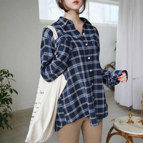 66GIRLSCheck Loose Fit Shirt