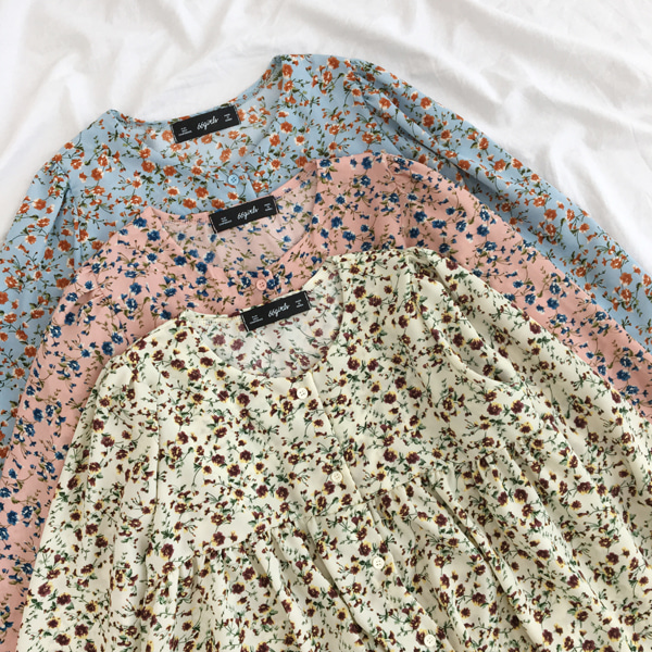 66GIRLSGathered Floral Blouse