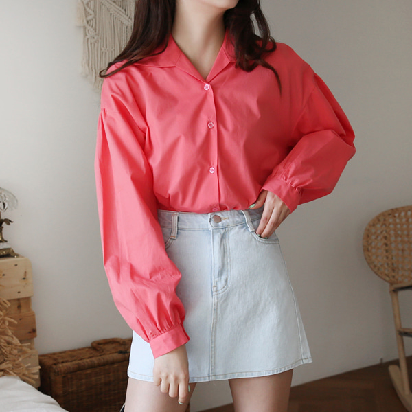 66GIRLSPuff Sleeve Loose Fit Blouse