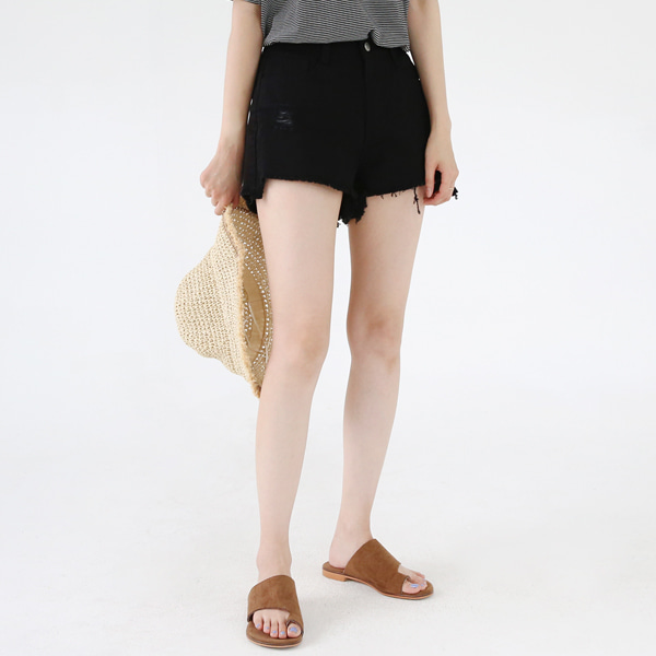 66GIRLSDistressed Mid Waist Shorts