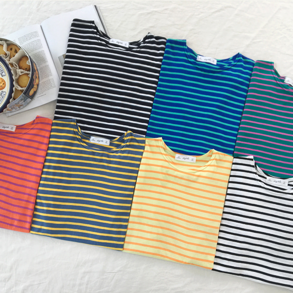 66GIRLSShort Sleeve Stripe T-Shirt