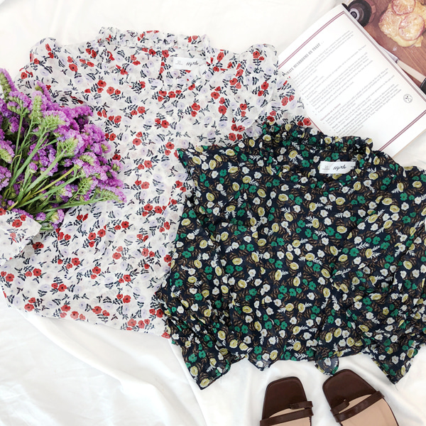 66GIRLSFrill Floral Blouse