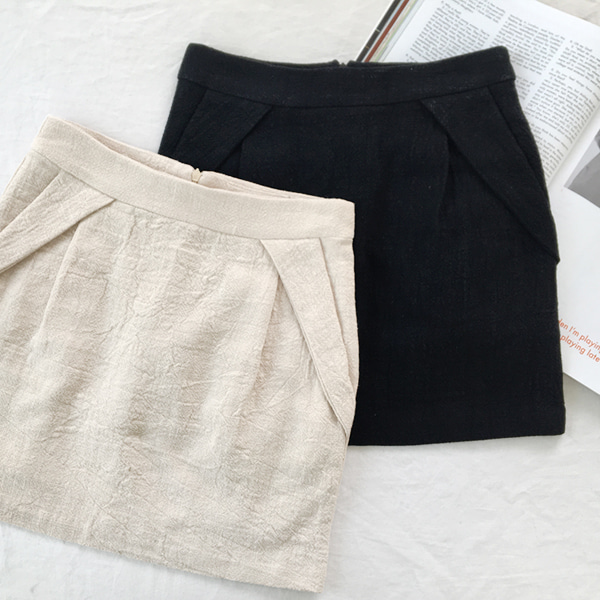 Linen Straight Cut Skirt