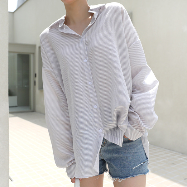 66GIRLSDrop Shoulder Stripe Shirt