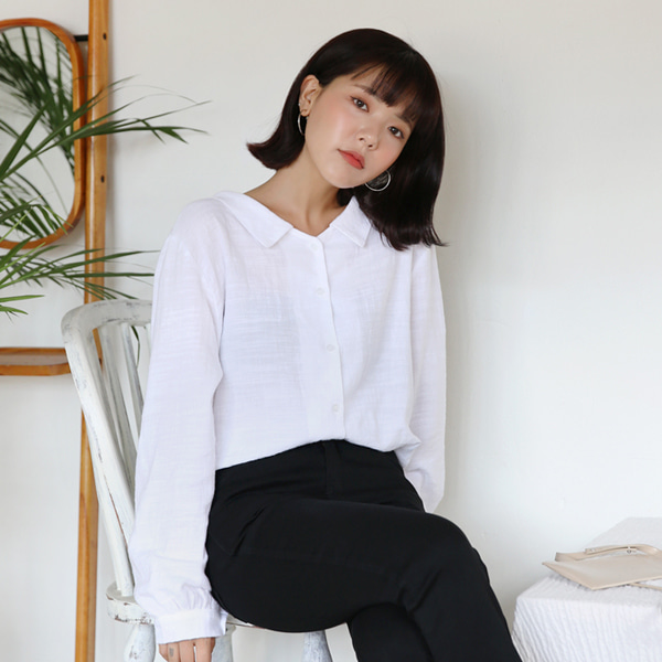Ribbon Two-Way Neck Shirt
