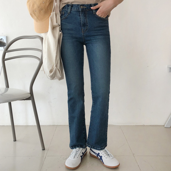 Semi Bootcut Washed Jeans