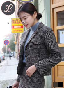 66GIRLSChest Pocket Check Blazer