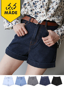 66GIRLSDenim Folded Cuff Shorts
