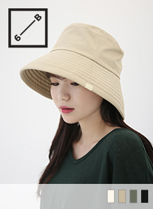 66GIRLSSimple Wide Brim Bucket Hat