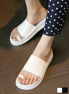 66GIRLSToe Loop Detail Slider Sandals
