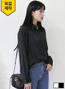 66GIRLSSmall Square Print Button-Down Blouse