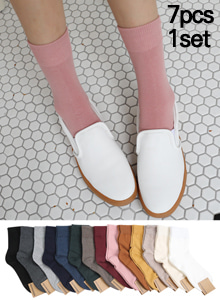 66GIRLSSolid Tone Quarter Crew Socks Set
