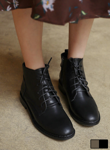 66GIRLSSide Zipper Lace-Up Boots