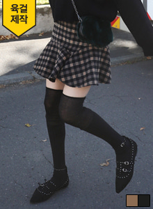 66GIRLSSide Zip Check Skirt