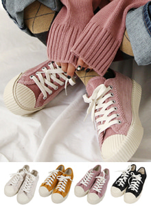 66GIRLSRibbed Lace-Up Sneakers