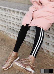 66GIRLSContrast Double Stripe Leggings