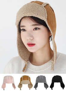 66GIRLSSnap Button Lined Trapper Hat