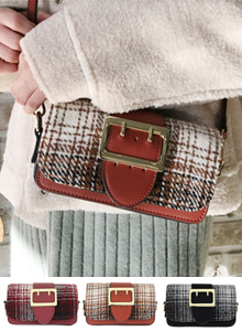 66GIRLSBuckled Check Mini Bag