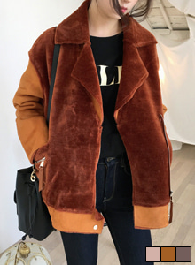 66GIRLSLoose Fit Faux Shearling Jacket