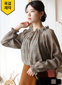 66GIRLSBow Neck Frilled Raglan Blouse