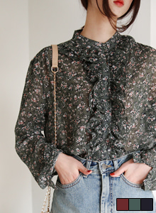 66GIRLSFrilled Floral Blouse