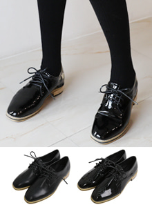66GIRLSFaux Leather Derby Shoes