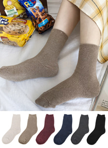 66GIRLSSolid Tone Quarter Crew Socks